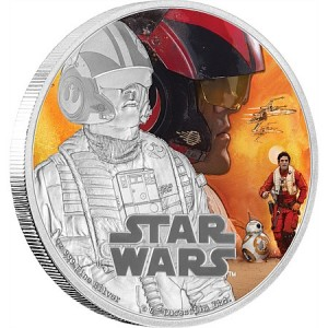 Stříbrná mince Star Wars The Force Awakens - Poe Dameron™ 1 oz