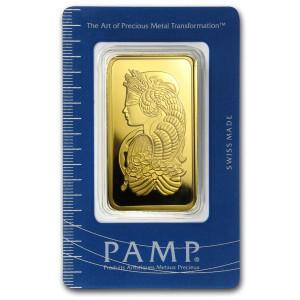 Zlatý investiční slitek 100 g PAMP