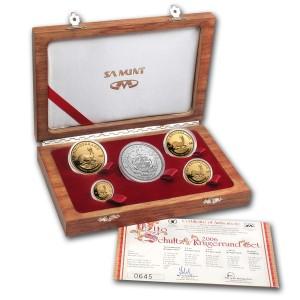 Sada 5 zlatých mincí Krugerrand 1,85 oz proof 2006