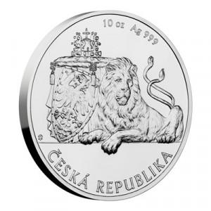Stříbrná mince Český lev 10 oz b.k. 2019