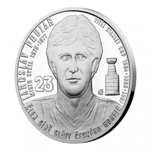 Stříbrná mince Legendy čs. hokeje Jaroslav Pouzar 29 g proof 2019