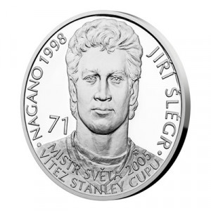 Stříbrná mince Legendy čs. hokeje Jiří Šlégr 29 g proof 2019