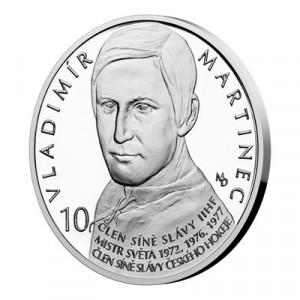 Stříbrná mince Legendy čs. hokeje Vladimír Martinec 29 g proof 2019