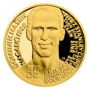 Zlatá mince Legendy čs. hokeje Dominik Hašek 1/4 oz proof 2019