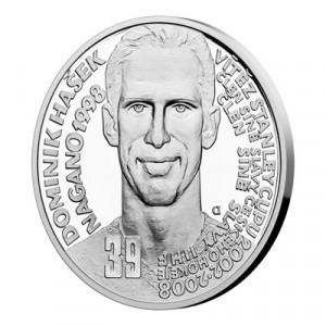 Stříbrná mince Legendy čs. hokeje Dominik Hašek 29 g proof 2019