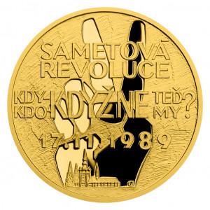 Zlatá mince Cesta za svobodou - Sametová revoluce 1/4 oz proof 2019