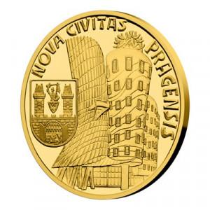 Zlatá mince Vznik královského hlavního města Praha - Nové Město pražské 1/4 oz proof 2019