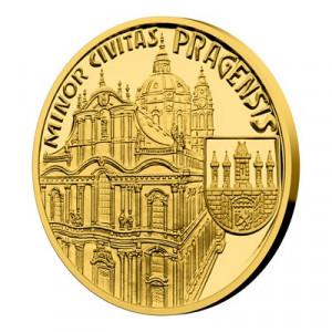 Zlatá mince Vznik královského hlavního města Praha - Malá Strana 1/4 oz proof 2019