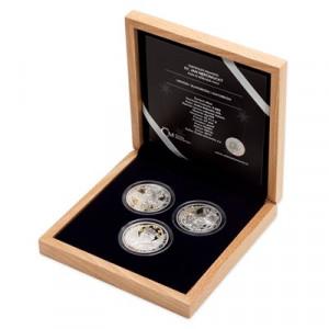 Stříbrná sada mincí Sv. Jan Nepomucký 3 x 1 oz proof 2019