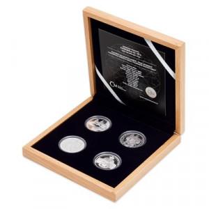 Stříbrná sada mincí Založení Katedrály sv. Víta 4 x 1/2 oz proof 2019