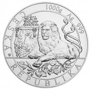 Stříbrná mince Český lev 1 kg b.k. 2019