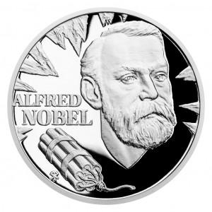 Stříbrná mince Géniové 19. stol. - Alfred Nobel proof 1 oz 2020