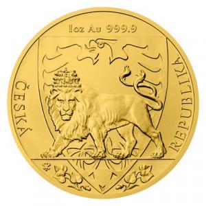Zlatá mince Český lev 1 Oz 2020