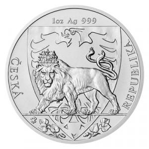 Stříbrná mince Český lev 1 oz b.k. 2020