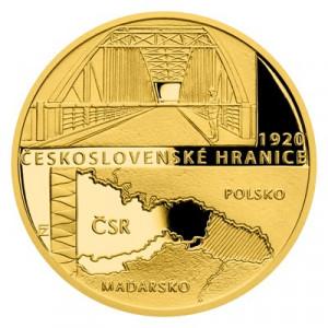 Zlatá mince Rok 1920 - Československé hranice 1/4 oz proof 2020