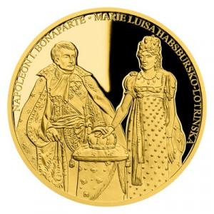 Zlatá mince Napoleon I. Bonaparte a Marie Luisa Habsbursko-Lotrinská 2 oz proof 2020
