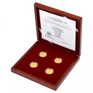 Sada zlatých mincí Katedrála Notre-Dame 1/4 oz proof 2020