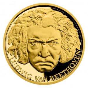 Zlatá mince Ludwig van Beethoven 1/2 oz proof 2020