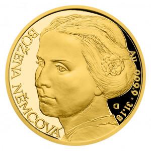 Zlatá mince Osudové ženy - Božena Němcová 1 oz proof