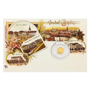 Zlatá mince Dobové pohlednice - Brno Katedrála sv. Petra a Pavla 0,5 g proof 2017
