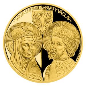 Zlatá mince Sv. Ludmila a sv. Václav 2 oz proof 2021
