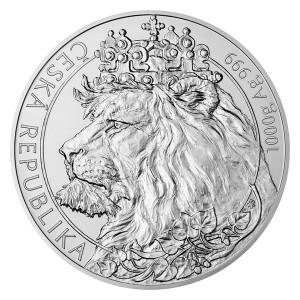 Stříbrná mince Český lev 1 kg b.k. 2021