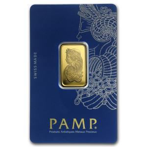 Zlatý investiční slitek 10 g PAMP
