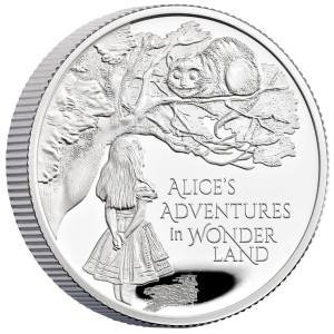 Stříbrná mince Alenka v říši divů 1/2 oz proof 2021