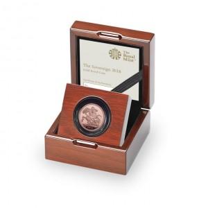 Zlatá mince Sovereign 2018 (The Royal Mint)