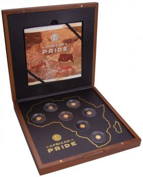 Sada zlatých mincí African pride - Kolébka lidstva 7 x 0,5 g proof 2020