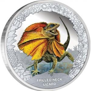 Stříbrná mince Agama límcová 1 oz proof 2013