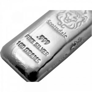 Stříbrný investiční slitek 100 g - Scottsdale