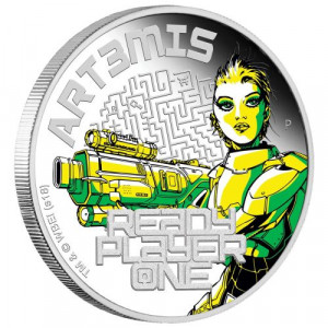 Stříbrná mince Ready Player One: Art3mis 1 oz proof 2018