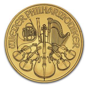 Zlatá mince Wiener Philharmoniker 1/4 oz