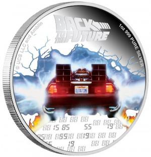 Stříbrná mince Back To The Future 1 oz proof 2020