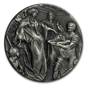 Stříbrná mince Biblická série Jan Křtitel 2 oz 2018