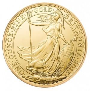 Zlatá mince Britannia 1 oz 2013
