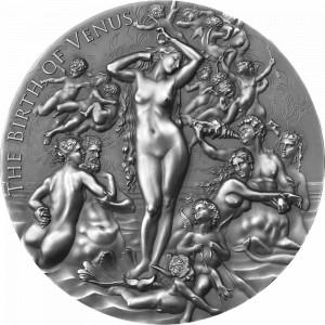 Stříbrná mince Zrození Venuše 2 oz antique finish 2021