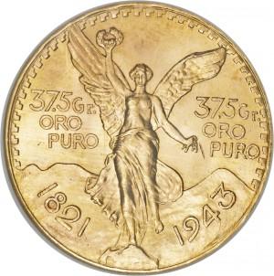 Zlatá mince 50 Pesos Centenario Mexiko