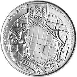 Stříbrná mince Založení Českých Budějovic b.k.