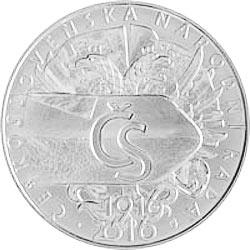 Stříbrná mince Založení ČNR 500 b.k.