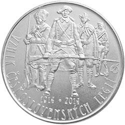 Stříbrná mince Založení československých legií b.k.