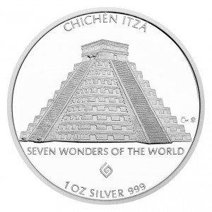 Stříbrná mince Chichén Itzá 1 oz proof 2017