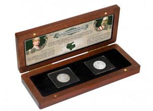 Sada dvou stříbrných mincí z roku 1914