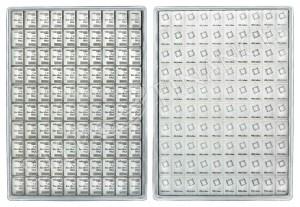 Stříbrný investiční slitek CombiBar 100 x 1 g Valcambi