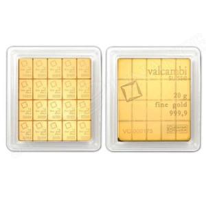 Zlatý investiční slitek CombiBar 20 x 1 g Valcambi