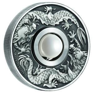 Stříbrná mince Dron & Pearl 1 oz antique finish