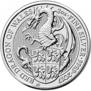 Stříbrná mince The Queen's Beasts Red Dragon 2 oz