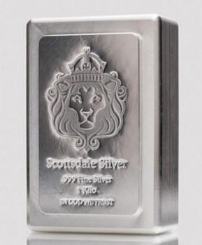 Stříbrný investiční slitek KILO Stacker 1 kg Scottsdale