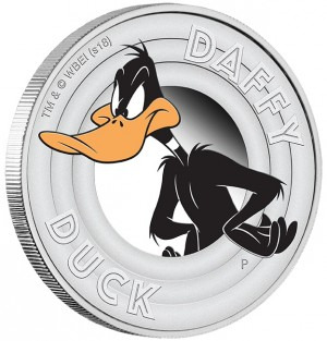 Stříbrná mince Looney Tunes Daffy Duck  1/2 oz proof 2018